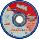 Диск отрезной по нержавеющей стали Dexter, 125x1x22 мм