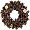 Рождественский венок с шишками 30 см