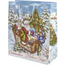Пакет подарочный «Рождественские сани» 41x49 см