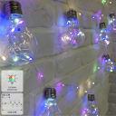 Электрогирлянда комнатная нить «Лампочки» 4.5 м 100 LED мультисвет