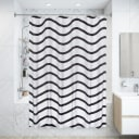 Штора для ванны Тиритака с люверсами 180х200 см, полиэстер, цвет белый