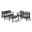 Набор садовой мебели Keter Delano пластик графит: стол, диван и 2 кресла