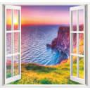 Фотообои Морской закат бумажные, 139x139 см