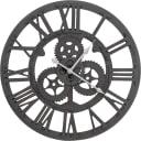 Часы настенные круглые 45 см чёрные