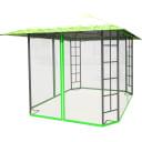 Шатер садовый с антимоскитной сеткой Ажур 3х3х2.65 м сталь зеленый (без штор)