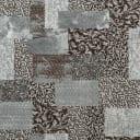 Ковровое покрытие «Вербена», 3 м, цвет серый/принт