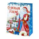 Пакет подарочный «Дед Мороз» 26x32 см