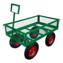 Тележка 4 колеса 102.5x62.5x98 см надутое колесо откидной борт