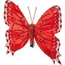 Ёлочное украшение на клипсе «Бабочка» цвет красный
