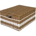 Корзина с крышкой Storidea HXL21.342 L, 330x210x450 мм, 31 л, бумага, цвет коричневый