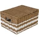 Корзина с крышкой Storidea HXL21.342 S, 230x150x310 мм, 11 л, бумага, цвет коричневый