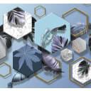 Фотообои «Трёхмерная геометрия» 3D флизелиновые 300х270 см L12-977