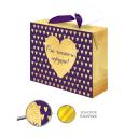 Пакет-коробка подарочный 84556 22.5x13.5x20 см
