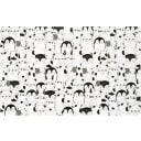 Салфетка сервировочная «Пингвины» 26x41 см белая/черная/серая