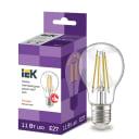 Лампа светодиодная IEK E27 175-250 В 11 Вт груша прозрачная 1320 лм теплый белый свет