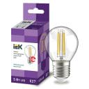 Лампа светодиодная IEK E27 175-250 В 5 Вт шар прозрачная 600 лм нейтральный белый свет