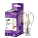 Лампа светодиодная IEK E27 175-250 В 7 Вт груша прозрачная 840 лм теплый белый свет