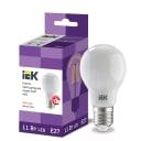 Лампа светодиодная IEK E27 175-250 В 11 Вт груша матовая 1265 лм теплый белый свет