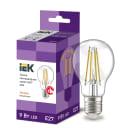 Лампа светодиодная IEK E27 175-250 В 9 Вт груша прозрачная 1080 лм теплый белый свет
