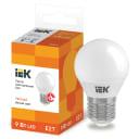 Лампа светодиодная IEK E27 175-250 В 9 Вт шар матовая 810 лм теплый белый свет