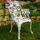 "Кресло садовое FRANK ""Спящая красавица"" 02504, цвет белый"