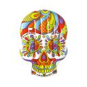 Надувной плавучий матрас Bestway Fiesta Skull 193x141 см 006135