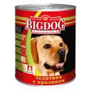 Влажный корм для собак БигДог (BigDog), Телятина с кроликом, 850г