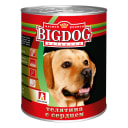 Влажный корм для собак БигДог (BigDog), Телятина с сердцем, 850г