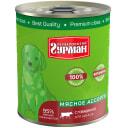 Четвероногий ГУРМАН консервы для ЩЕНКОВ Мясное ассорти с Говядиной 340гр