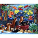 Картина по номерам на холсте Белоснежка Коты и рыбки 231-AB