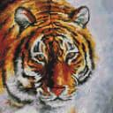 Алмазная мозаика Белоснежка Тигр на снегу 122-ST-S