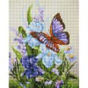 Алмазная мозаика Белоснежка Бабочка на ирисах 408-ST-PS