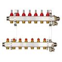 Комплект коллекторов Danfoss SSM-7F с расходомерами и кронштейнами, 7 контуров