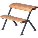 Скамейка - стол Domino 150х78,7х81 см дерево/металл коричневая/черная