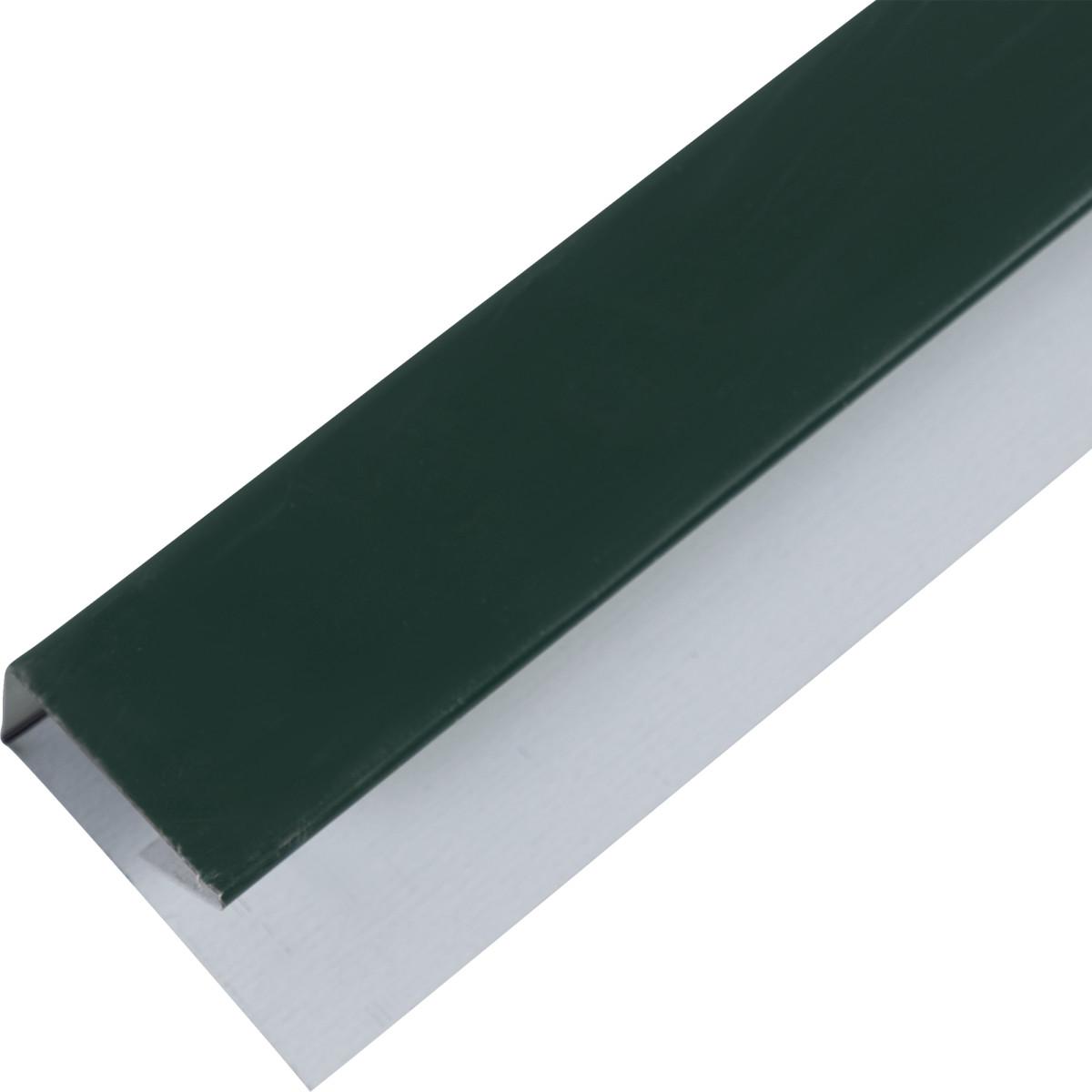 П-планка для профнастила цвет зелёный