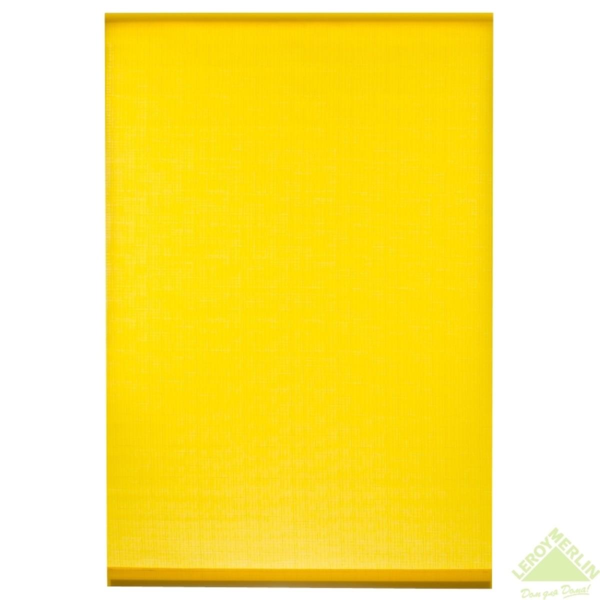 Мини-Штора рулонная Shantung 40х175 см цвет желтый