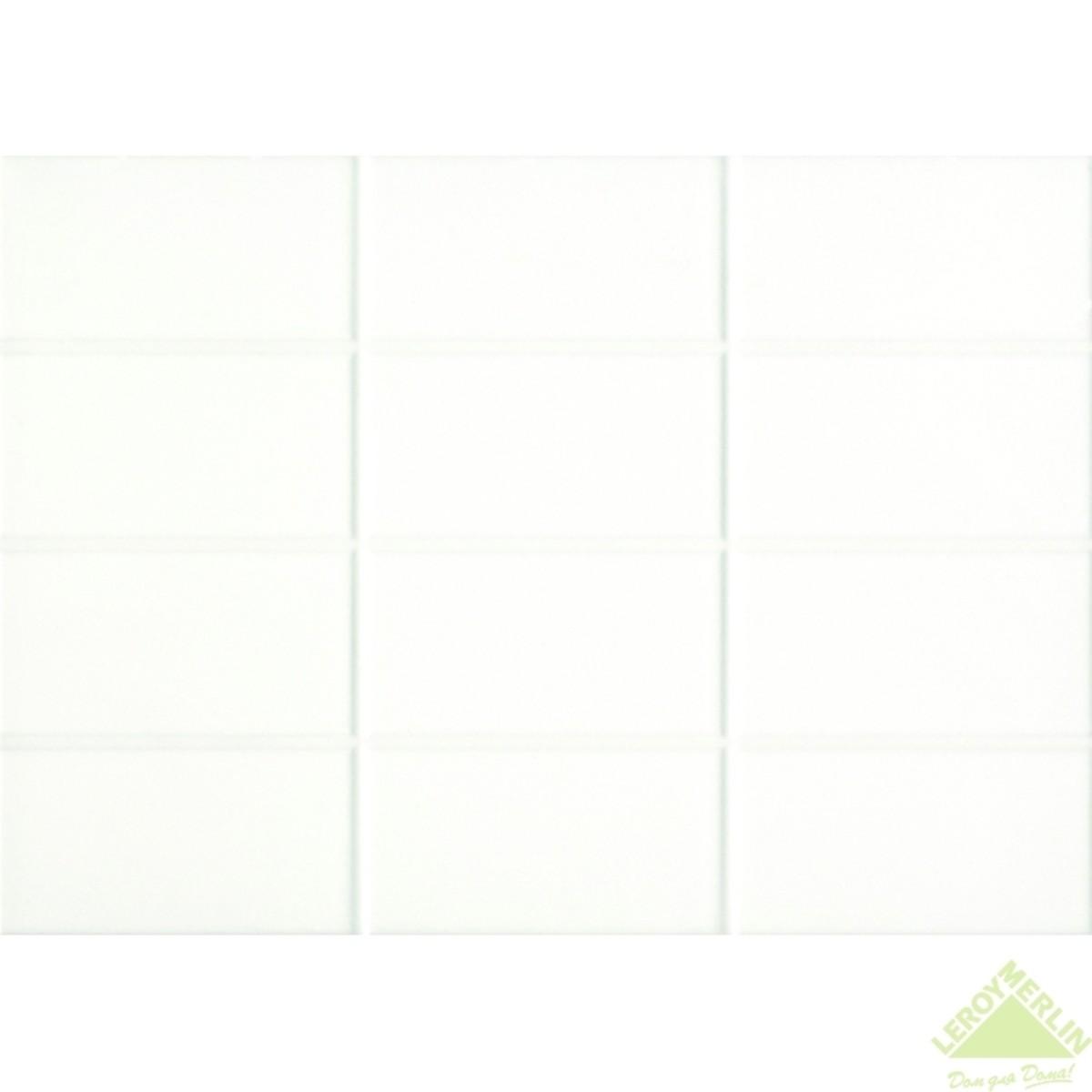 Плитка настенная Mono цвет белый 25x35 см 14 м2