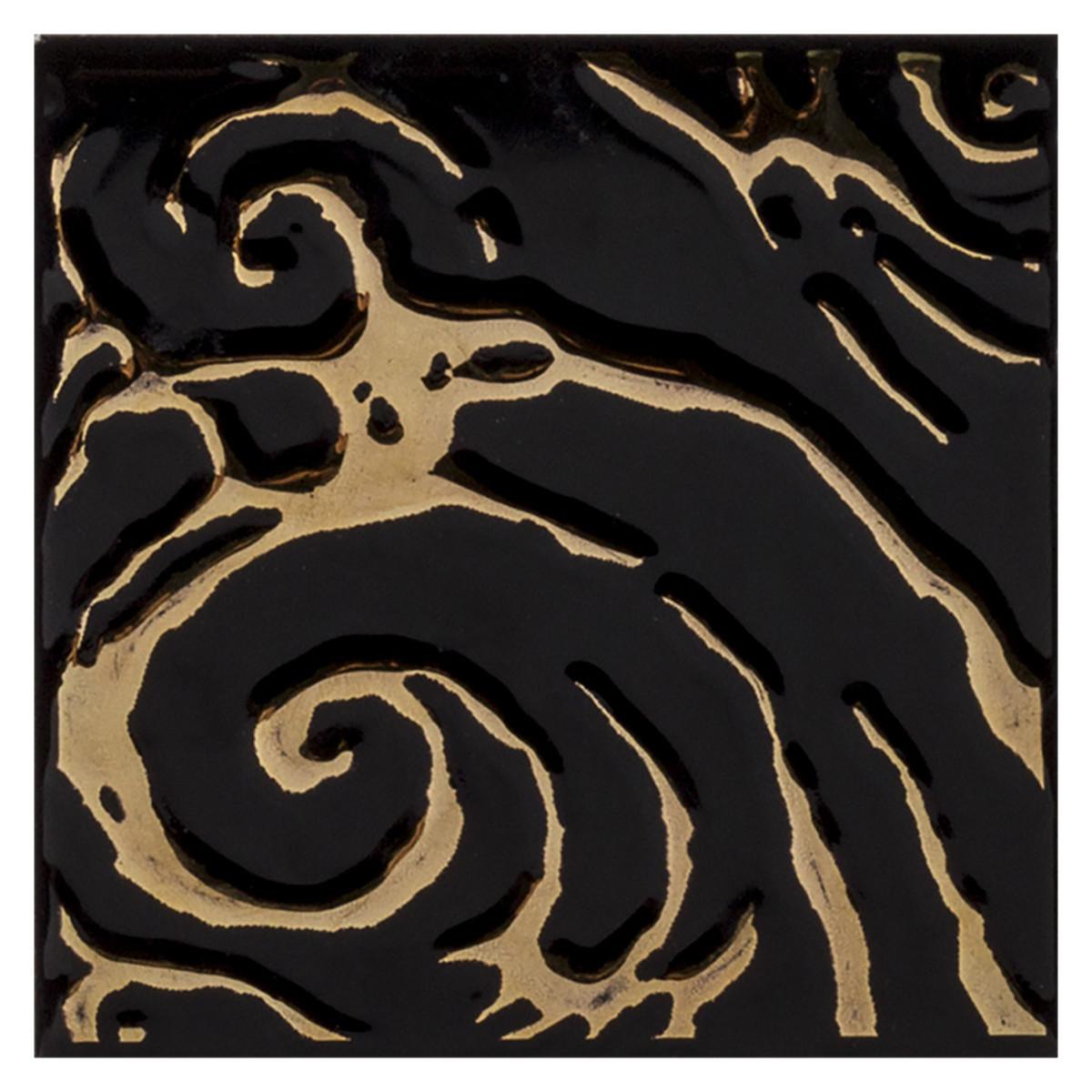 Декор STREZA VERSUS цвет черный 10х10 см