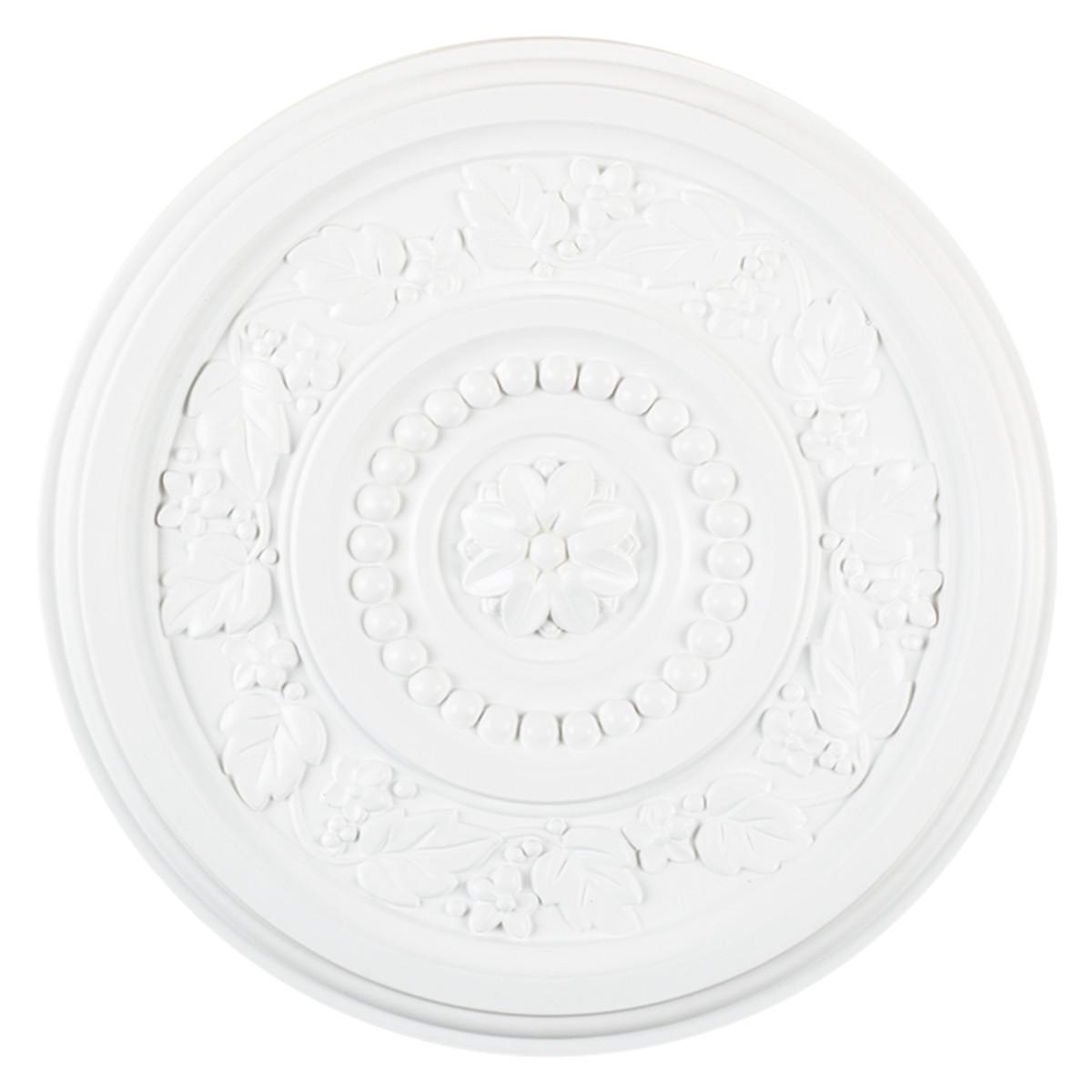Розетка потолочная полиуретан белый R350 41 см