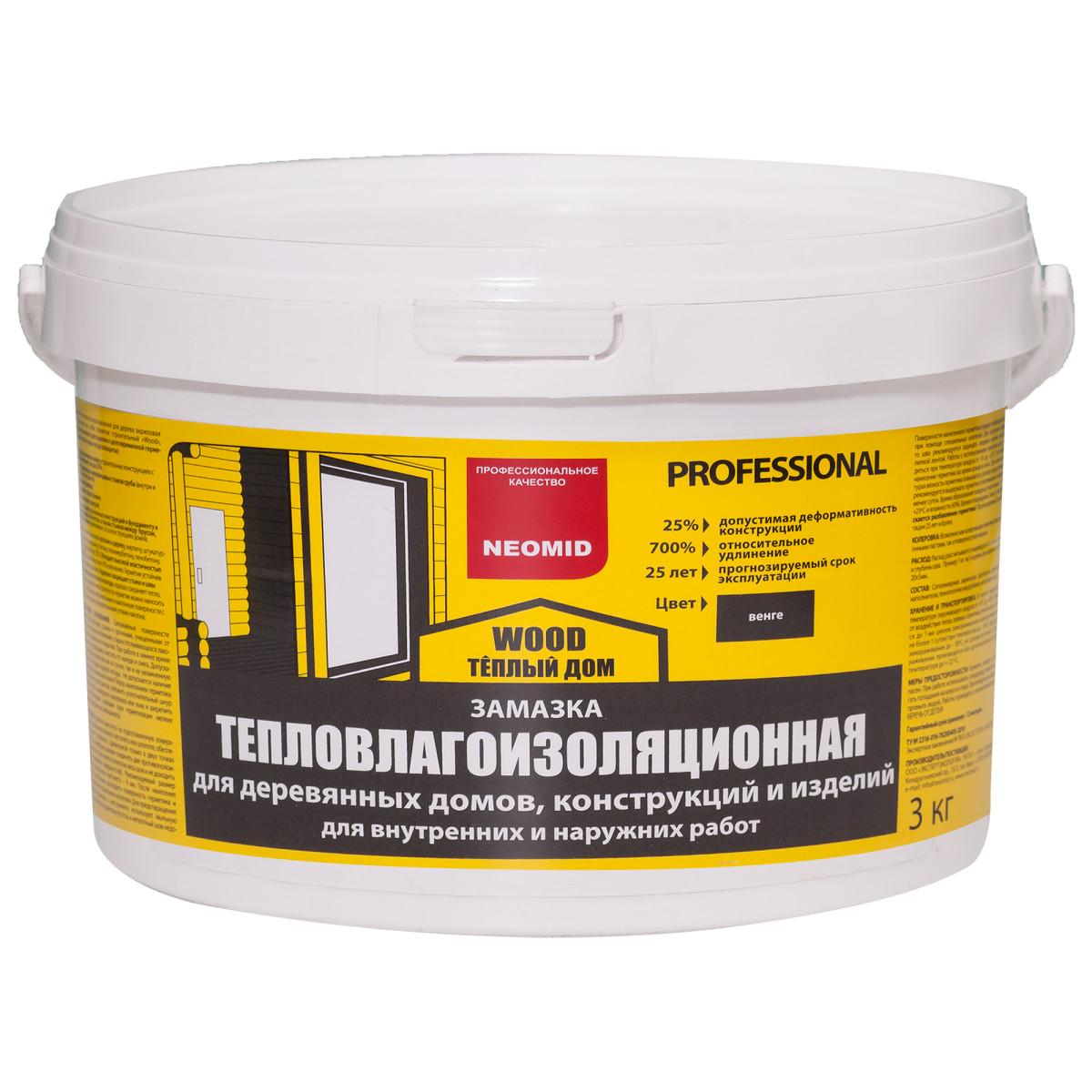 Замазка для дерева Neomid цвета венге 3 кг