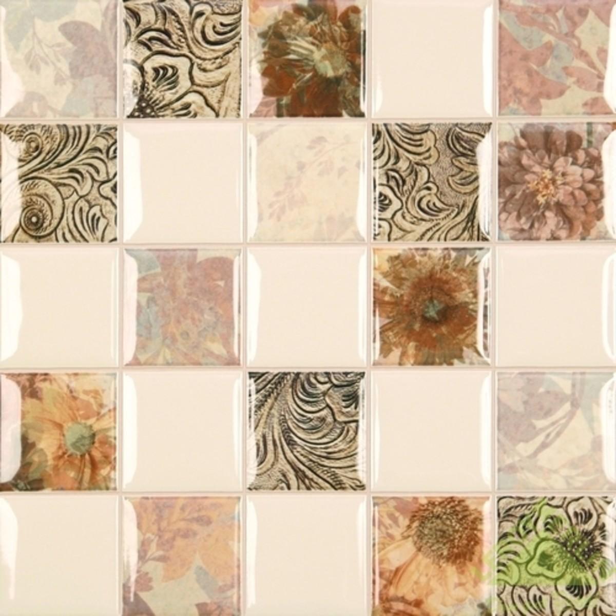Плитка настенная Mosaico Becha цвет бежевый 35x35 см 147 м2