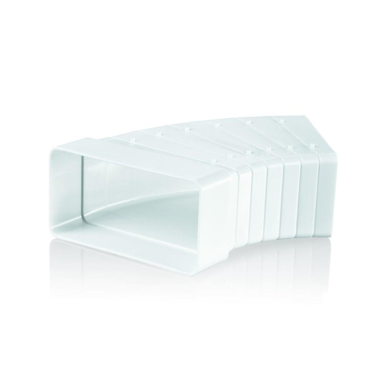 Колено горизонтальное разноугловое Вентс 55х110 мм