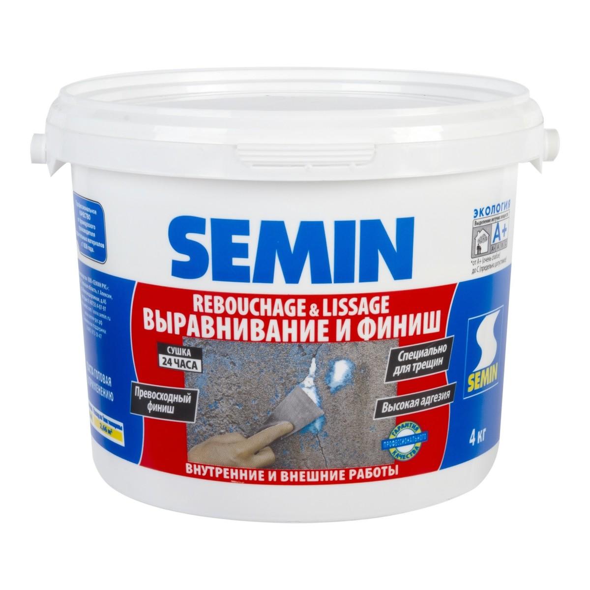 Финишпаста полимерная Semin Rebouchage &amp Lissage 4 кг