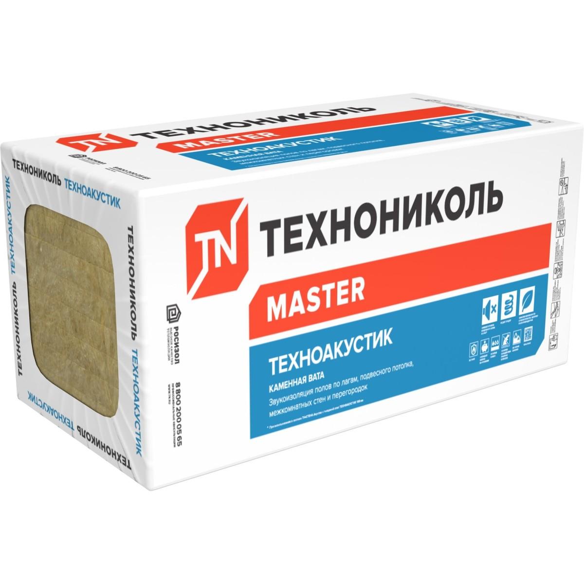 Каменная вата ТЕХНОАКУСТИК 50 мм 576 м2