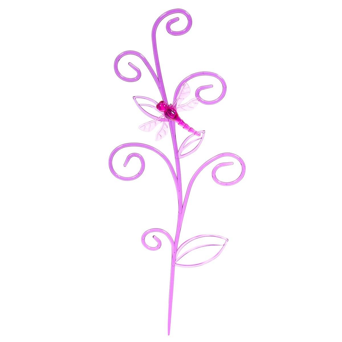Держатель для комнатных растений «Стрекоза на ветке» цвет розовый