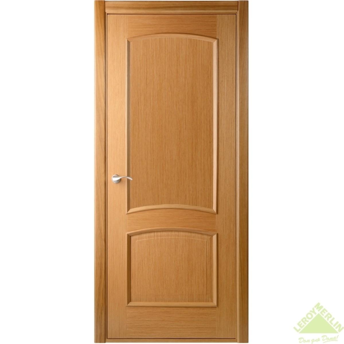 Полотно дверное глухое Сорренто 2000x800 мм шпон дуб