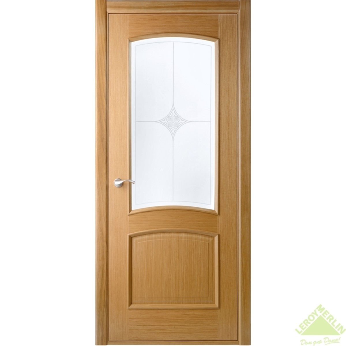 Полотно дверное остекленное Сорренто 2000x800 мм шпон дуб