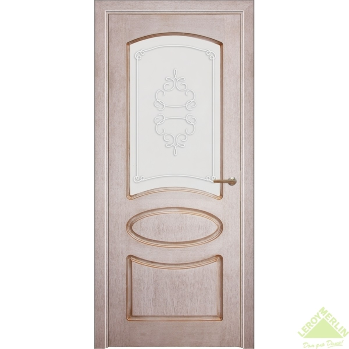 Дверь межкомнатная остеклённая 701 700x2000 мм шпон дуб патина