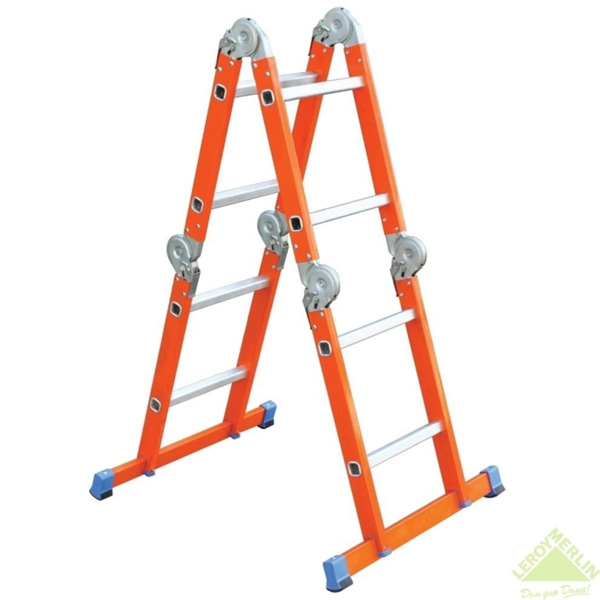 Лестница-трансформер стальная 4х2