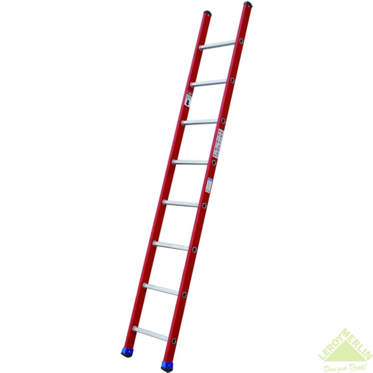 Лестница приставная односекционная диэлектрическая 8 ступеней
